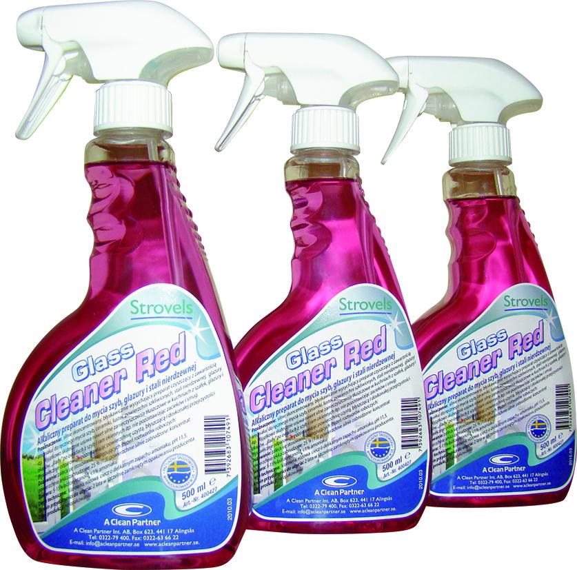 Glass Cleaner Red x3