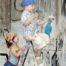 dzieci usuwające grafiti