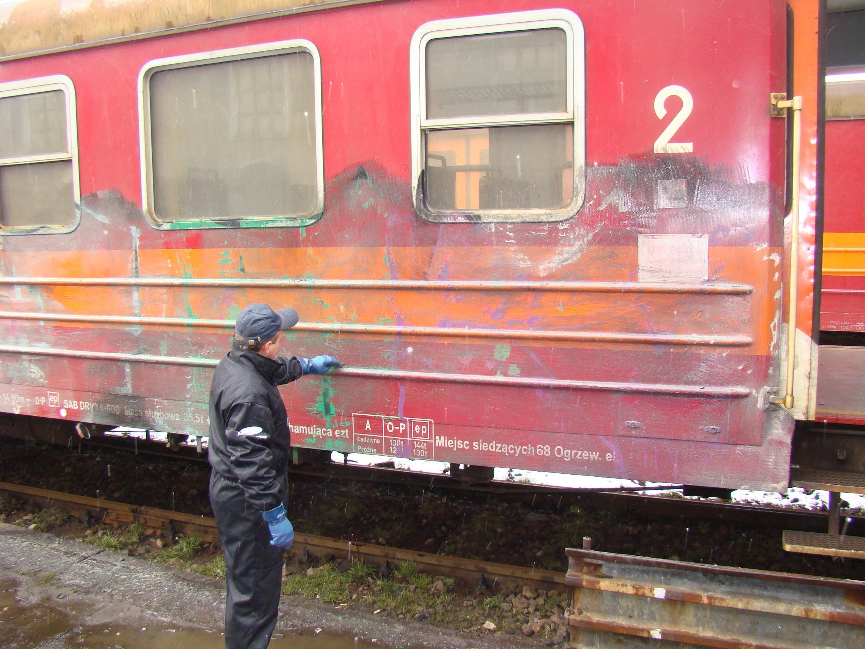 usuwanie graffiti pociag 8 - Photo Gallery
